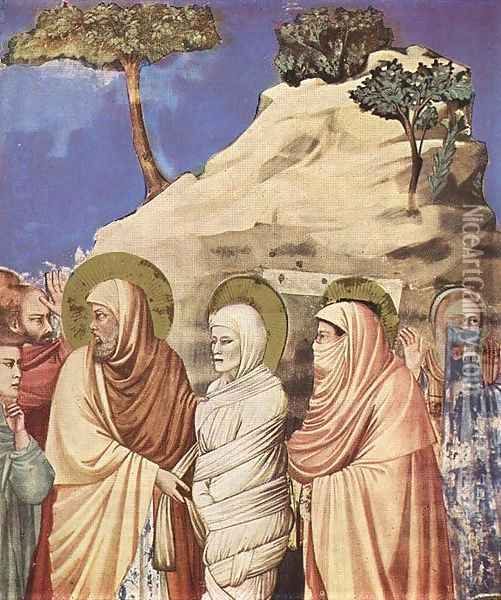 No. 25 Scenes from the Life of Christ- 9. Raising of Lazarus (detail) 1304-06 Oil Painting - Giotto Di Bondone