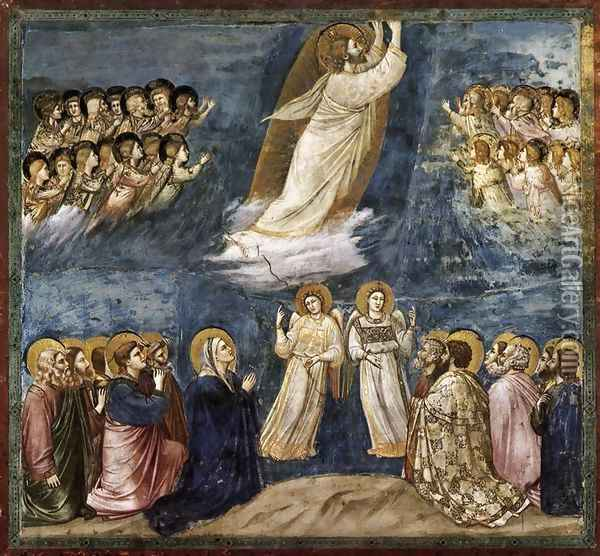 No. 38 Scenes from the Life of Christ- 22. Ascension 1304-06 Oil Painting - Giotto Di Bondone