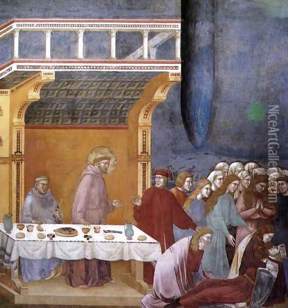 Legend of St Francis- 16. Death of the Knight of Celano 1297-1300 Oil Painting - Giotto Di Bondone