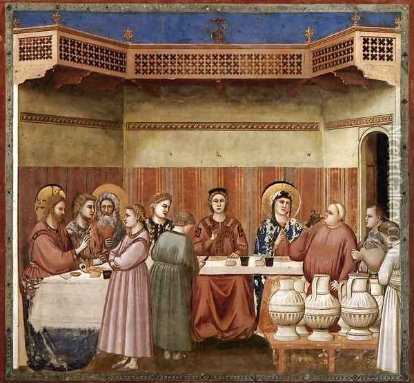 No. 24 Scenes from the Life of Christ- 8. Marriage at Cana 1304-06 Oil Painting - Giotto Di Bondone