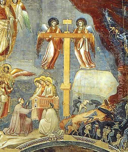 Last Judgment (detail 9) 1306 Oil Painting - Giotto Di Bondone