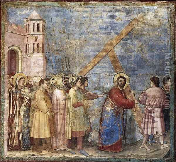 No. 34 Scenes from the Life of Christ- 18. Road to Calvary 1304-06 Oil Painting - Giotto Di Bondone