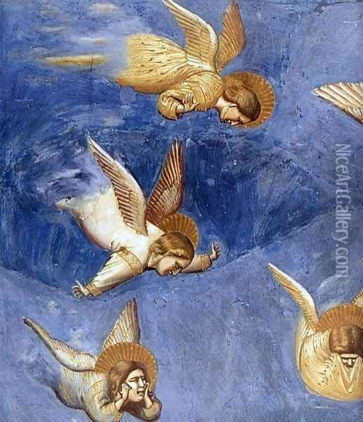 No. 36 Scenes from the Life of Christ- 20. Lamentation (detail) 1304-06 Oil Painting - Giotto Di Bondone