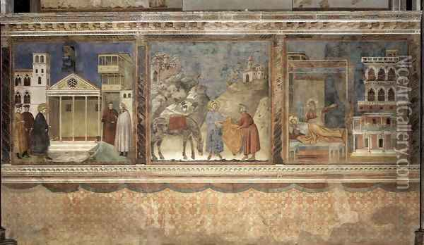 Legend of St Francis- Scenes Nos. 1-3 1297-99 Oil Painting - Giotto Di Bondone