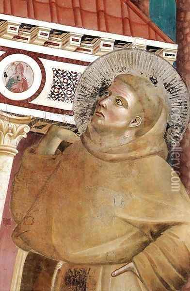 Legend of St Francis- 6. Dream of Innocent III (detail 1) 1297-99 Oil Painting - Giotto Di Bondone