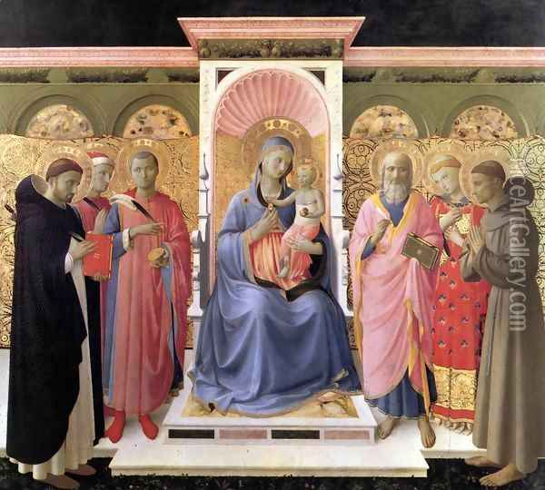 Annalena Altarpiece Oil Painting - Giotto Di Bondone