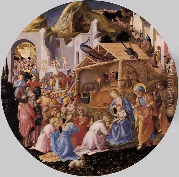 The Adoration of the Magi Oil Painting - Giotto Di Bondone