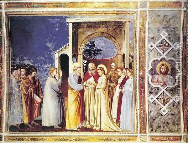 Marriage of the Virgin Oil Painting - Giotto Di Bondone