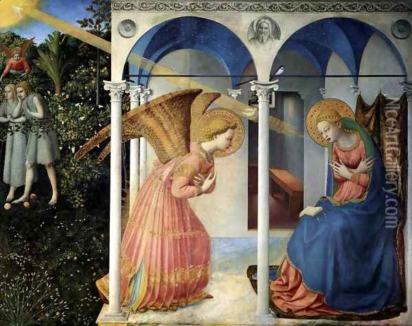 The Annunciation 2 Oil Painting - Giotto Di Bondone