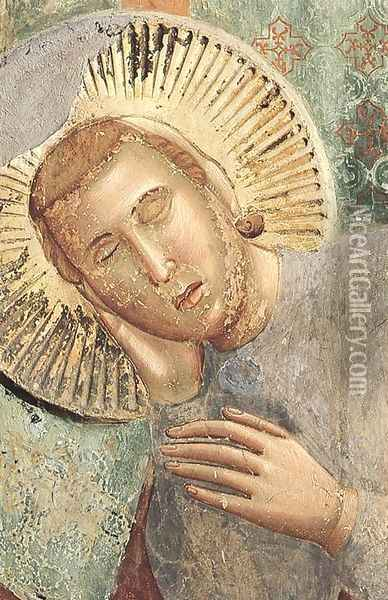 Legend of St Francis 3. Dream of the Palace (detail) Oil Painting - Giotto Di Bondone