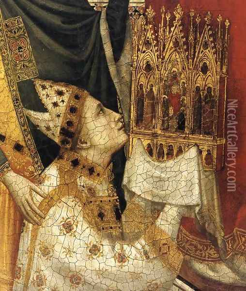The Stefaneschi Triptych St Peter Enthroned (detail) Oil Painting - Giotto Di Bondone
