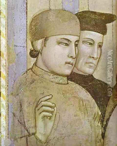 Death Of St Francis And Inspection Of Stigmata Detail 2 1320s Oil Painting - Giotto Di Bondone