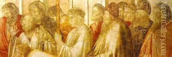 Raising Of Drusiana Detail 1313 14 Oil Painting - Giotto Di Bondone