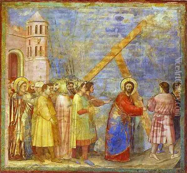 The Carrying Of The Cross 1304-1306 Oil Painting - Giotto Di Bondone