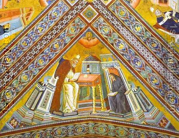 Vault Of The Doctors Of The Church St Jerome 1290-1295 Oil Painting - Giotto Di Bondone