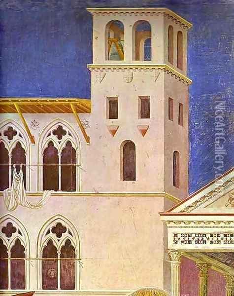 Homage Of A Simple Man Detail 1 1295-1300 Oil Painting - Giotto Di Bondone