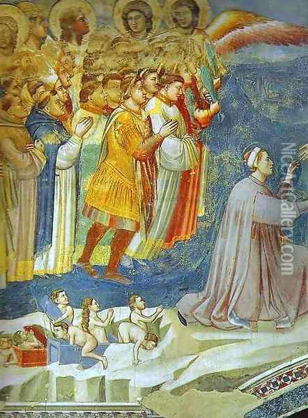 The Last Judgement Detail 5 1304-1306 Oil Painting - Giotto Di Bondone
