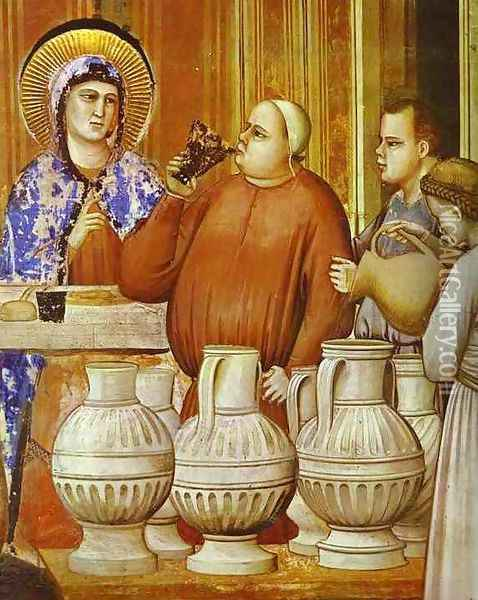 The Wedding Feast At Cana Detail 1304-1306 Oil Painting - Giotto Di Bondone