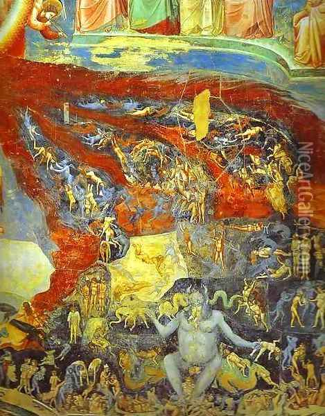 The Last Judgement Detail 6 1304-1306 Oil Painting - Giotto Di Bondone