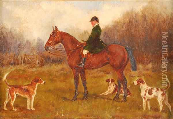 Ahuntsman With Hounds, The Heythrop Hunt Oil Painting - Henry Frederick Lucas-Lucas
