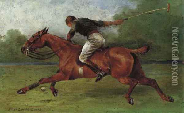Polo Player Oil Painting - Henry Frederick Lucas-Lucas