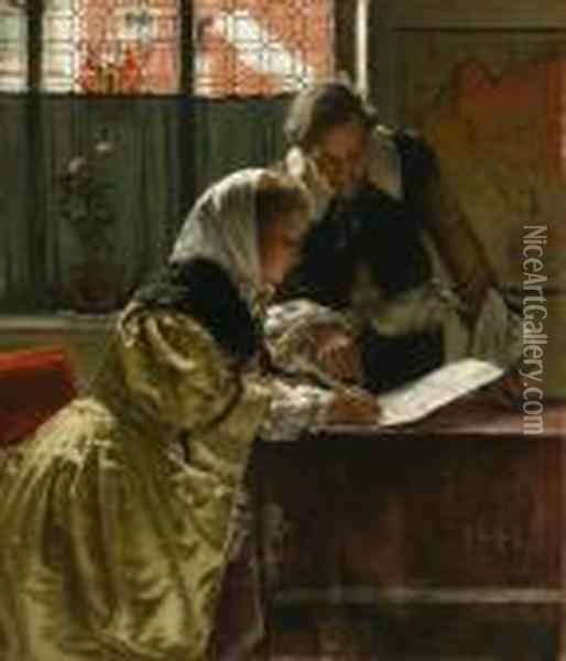 The Notary Oil Painting - Walter MacEwen