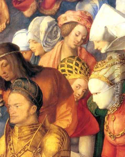 The Adoration of the Trinity (detail 4) Oil Painting - Albrecht Durer