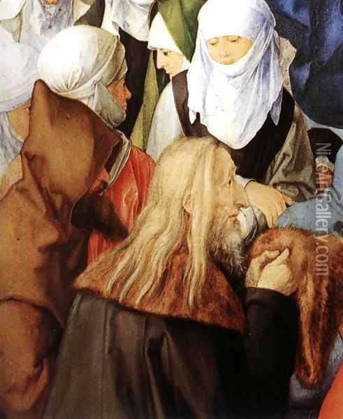 The Adoration of the Trinity (detail 2) Oil Painting - Albrecht Durer