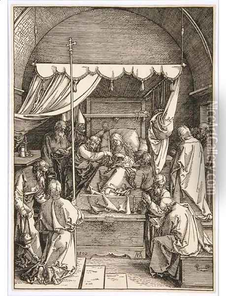 The Death of the Virgin, from The Life of the Virgin Oil Painting - Albrecht Durer