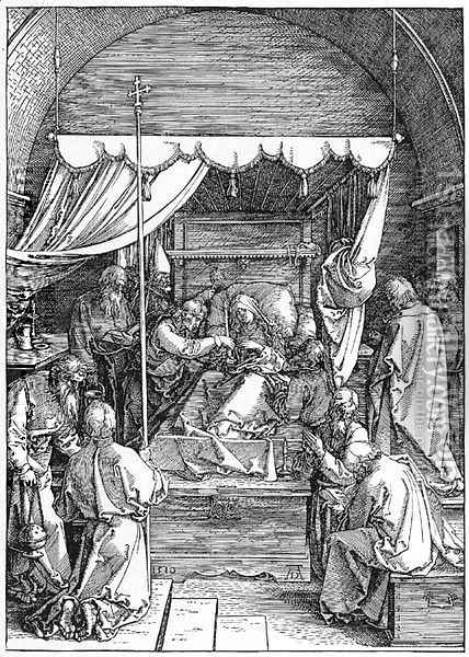 The Death of the Virgin, from The Life of the Virgin 2 Oil Painting - Albrecht Durer