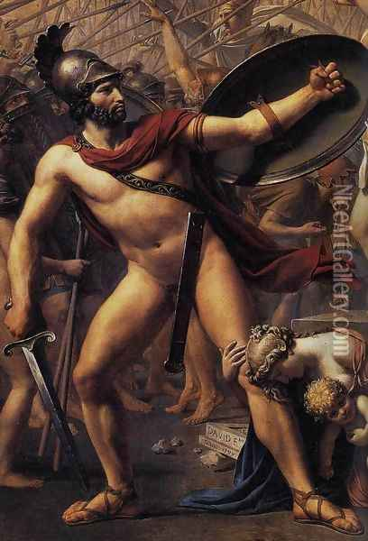 The Intervention of the Sabine Women (detail 2) 1799 Oil Painting - Jacques Louis David