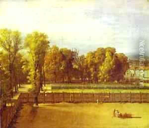 View Of The Garden Of The Luxembourg Palace 1794 Oil Painting - Jacques Louis David