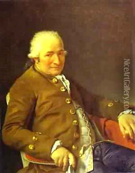Portrait Of Charles Pierre PeCoul Contractor Of Royal Buildings Oil Painting - Jacques Louis David