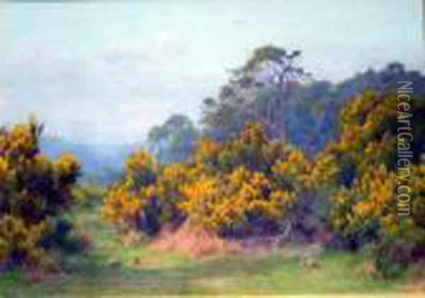 Near Shere Oil Painting - George Marks