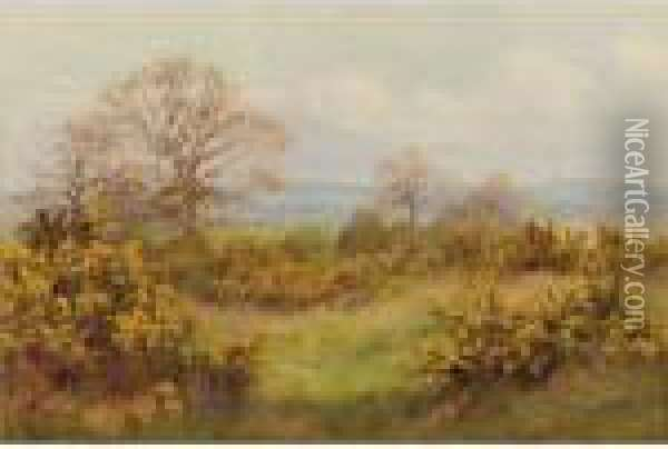 A Surrey Common Oil Painting - George Marks