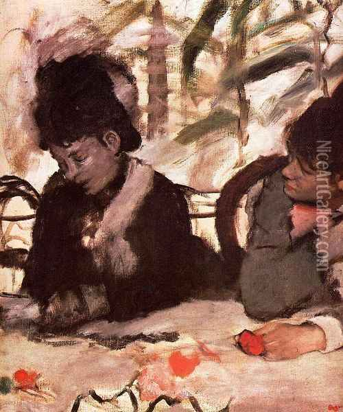 At the Cafe Oil Painting - Edgar Degas