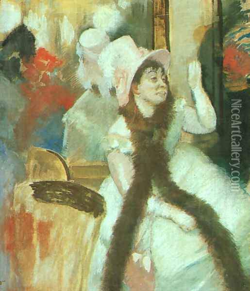 Portrait after a Costume Ball (Portrait of Madame Dietz-Monnin) 1877-79 Oil Painting - Edgar Degas