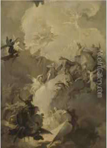 The Glorification Of The Hungarian Saints Oil Painting - Franz Anton Maulbertsch
