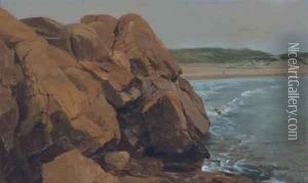 Bass Rocks Oil Painting - Jervis McEntee
