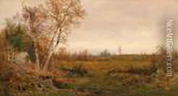 Gathering Firewood Oil Painting - Jervis McEntee