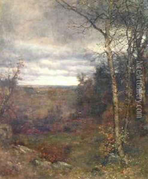 The Approaching Storm, Early Evening Oil Painting - Jervis McEntee
