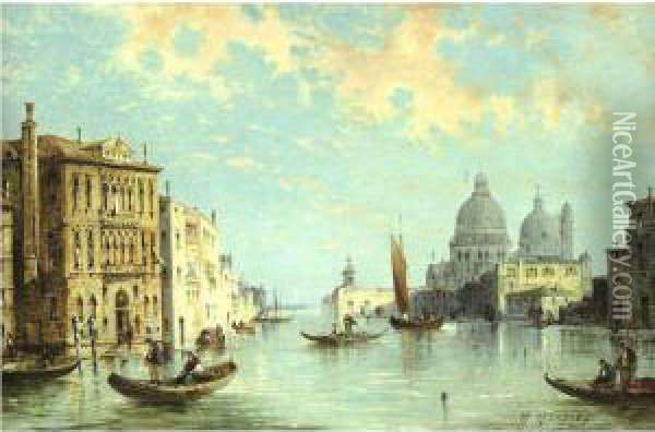 The Grand Canal Oil Painting - William Meadows