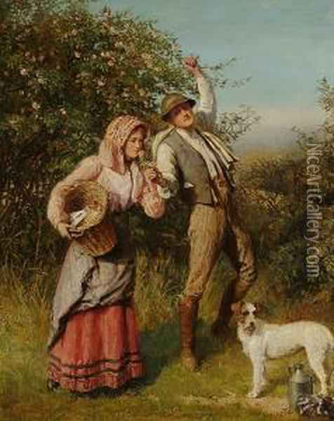 A Summer````s Day Oil Painting - Wilhelm Menzler Casel