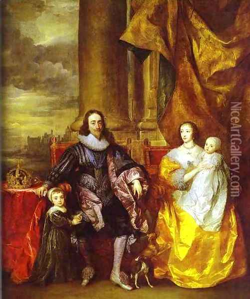 Charles I and Queen Henrietta Maria Oil Painting - Sir Anthony Van Dyck