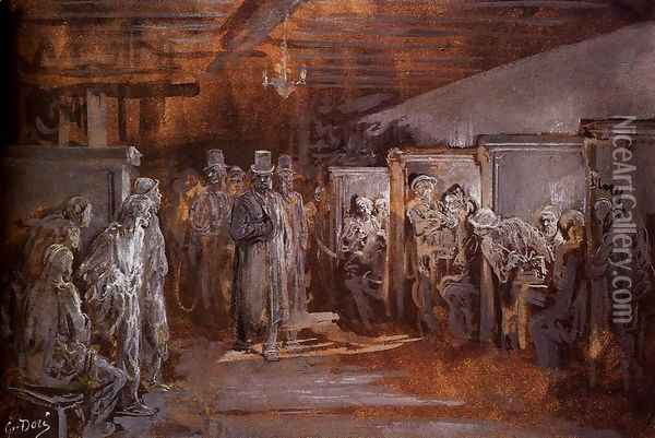 Tavern In Whitechapel Oil Painting - Gustave Dore