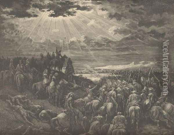 The War Against Gibeon Oil Painting - Gustave Dore