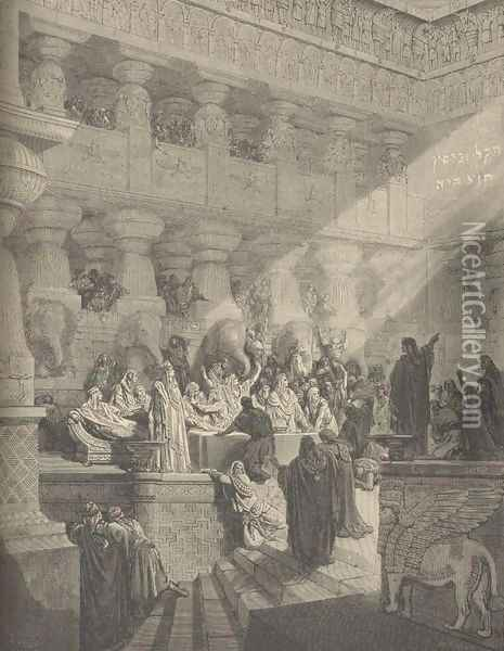 Belshazzar's Feast Oil Painting - Gustave Dore