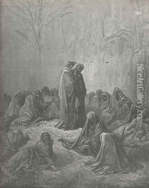 The sight of mis'ry. (Canto XIII., line 66) Oil Painting - Gustave Dore