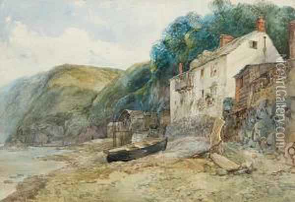Clovelly Oil Painting - John Middleton
