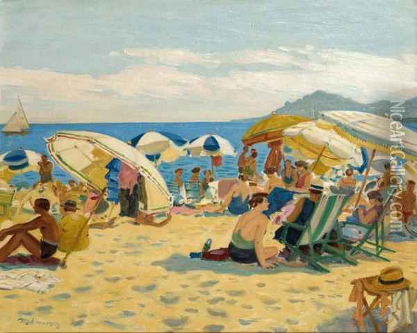 Bord De Plage Anime Oil Painting - Tony Minartz